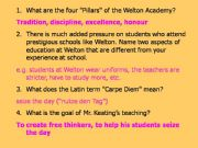 English powerpoint: Dead Poets Society Content questions