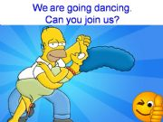 English powerpoint: PART 3 of 3: We are going (shopping). Can you join us? Simpsons