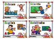English powerpoint: Daily Plan cards for TIMETABLE (PART 1/5)