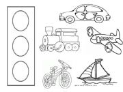 English powerpoint: means of transport colouring