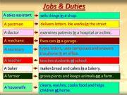 English powerpoint: Jobs & Duties