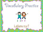 English powerpoint: a smart board activity - practicing vocabulary