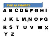 English powerpoint: THE ALPHABET