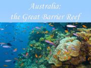 English powerpoint: Australia: the Great Barrier Reef