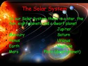 English powerpoint: The Solar System: Mars and Venus