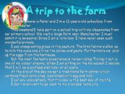 English powerpoint: a trip to the farm