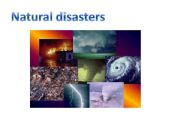 English powerpoint: Natural disasters ppt