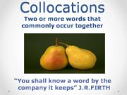 English powerpoint: Collocations