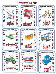 English powerpoint: Transportation Go Fish