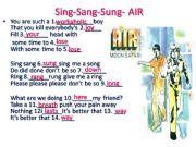 English powerpoint: Song: Air- Sing Sang Sung