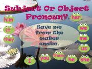 English powerpoint: Subject and Object Pronouns