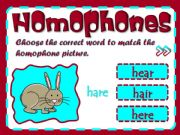 English powerpoint: Homophones - game (2/2)