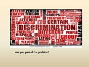 English powerpoint: Discrimination