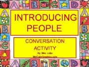 English powerpoint: introducing people- conversation activity- 15 slides