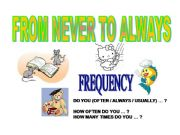 English powerpoint: expressions of frequency (from never to always)