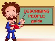 English powerpoint: describing people guide