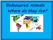 English powerpoint: Endangered Animals Map Game 1