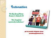 English powerpoint: Intonation - The Big Bang Theory
