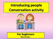 English powerpoint: conversation activity about introducing people