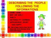 English powerpoint: describing people conversation