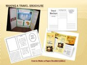 English powerpoint: How to make a travel brochure