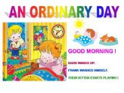 English powerpoint: An ordinary day - a comics as basis to start daily routine