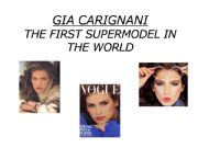 English powerpoint: Gia: The first supermodel in the world