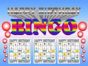 English powerpoint: Birthday Bingo Game