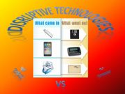 English powerpoint: Disruptive technologies