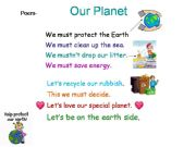 English powerpoint: MUST- MUSTN´T : a poem about our planet & the environment