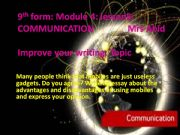 English powerpoint:  Essay form on mobile phones