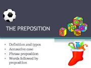 English powerpoint: the preposition