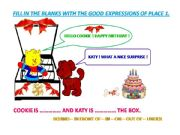 English powerpoint: exercises expressions of place - vocabulary 1 on 3