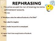 English powerpoint: Rephrasing