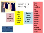 English powerpoint: Today I´m wearing...
