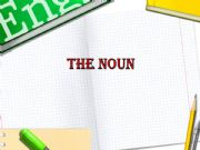 English powerpoint: Noun
