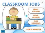 English powerpoint: Classroom Jobs