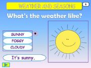 English powerpoint: Weather and Seasons