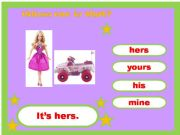English powerpoint: Mine, Yours, His, Her Game 3/4