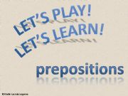 English powerpoint: interactive game - prepositions
