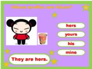 English powerpoint: Mine, Yours, His Hers Game 4/4