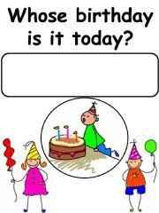 English powerpoint: Birthday Corner