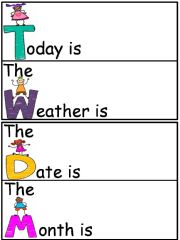 English powerpoint: Weather Chart and Calender