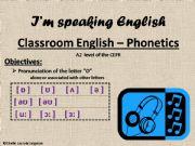English powerpoint: classroom english - phonetics