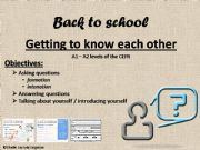 English powerpoint: getting to know each other
