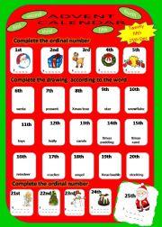 English powerpoint: Advent Calendar