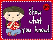 English powerpoint: Show what you know!