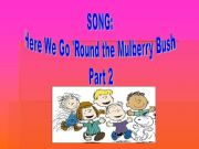 English powerpoint: Song: Here we go round the Mulberry Bush. Part 2