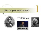English powerpoint: Who Is Your Role Model?