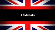 English powerpoint: Ordinals